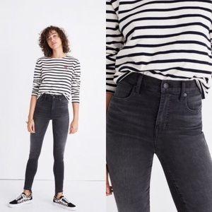 Madewell - High Riser Skinny Dark Wash Jeans